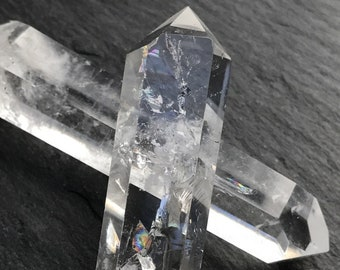 Clear Quartz Double Terminated Points ~ Filled with Rainbows