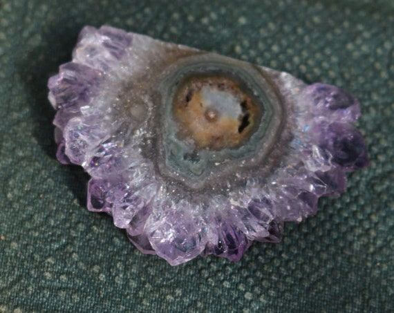 Dark Purple Amethyst Slice