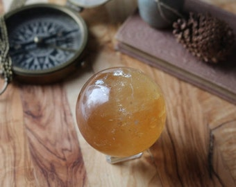 Honey Calcite Sphere 57mm