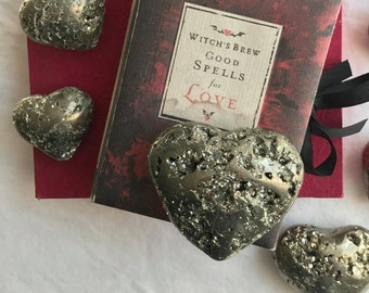 Pyrite Hearts ~ Many sizes!