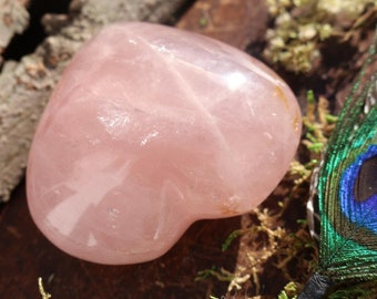 XL Rose Quartz Heart ~ A GEM!!