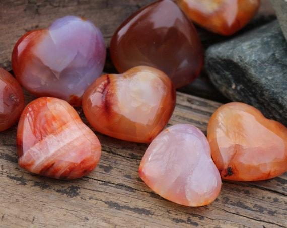 Small Carnelian Hearts ~ Talisman