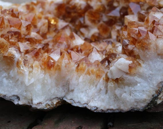 Huge Citrine Geode 51 pounds ~ Yoga Studio, Crystal Home Decor