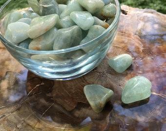 Polished Aquamarine Tumbled Stones