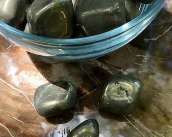 Pyrite Tumbled Stones ~ Smooth Pyrite Pocket Stones