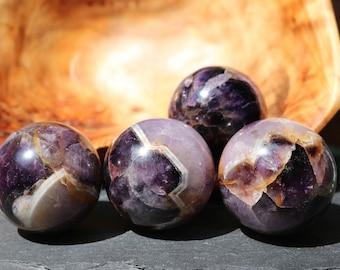 Chevron Amethyst Sphere, Banded Amethyst, Polished Chevron Amethyst, Purple Crystal Ball, Chevron Sphere, Purple Crystal, Crystal Grid