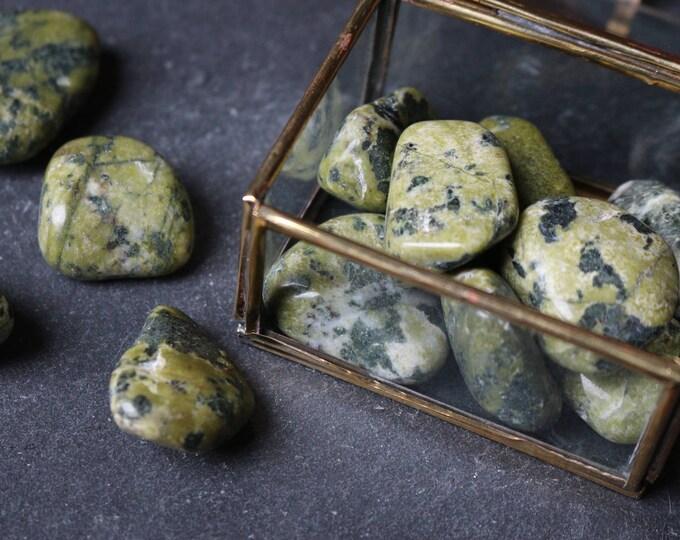 Set of 3 Serpentine Tumbled Stones