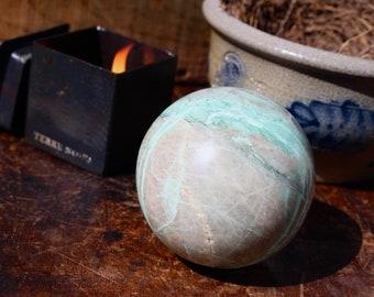 Large Green Moonstone Sphere 72mm