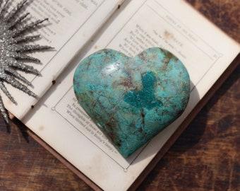 Malachite Chrysocolla & Azurite Heart ~  Heart in a Heart