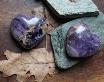 Chevron Amethyst Hearts