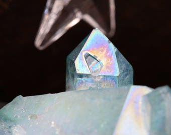 Aqua Aura Quartz Cluster ~ The color of a calm sea