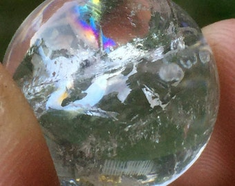 Mini Quartz Crystal Ball, Clear Quartz Marble, Crystal Sphere, Clear Crystal Orb, Magic Crystal Ball, Crystal Grid, Altar Stone, Reiki, Grid
