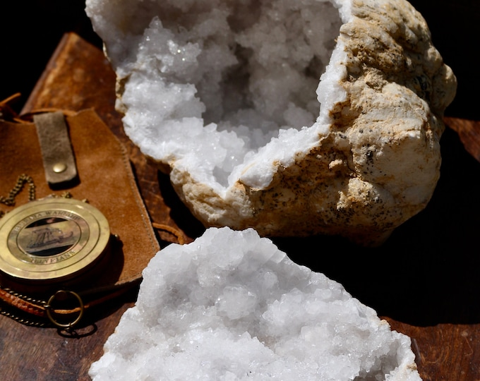 Large Chalcedony Geode ~16 lbs ~ Place a tea light inside!