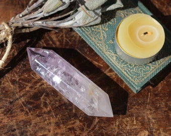 """Two Sided Amethyst Wand 3.5"""""""