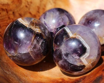 Chevron Amethyst Sphere aka Banded Amethyst Spheres