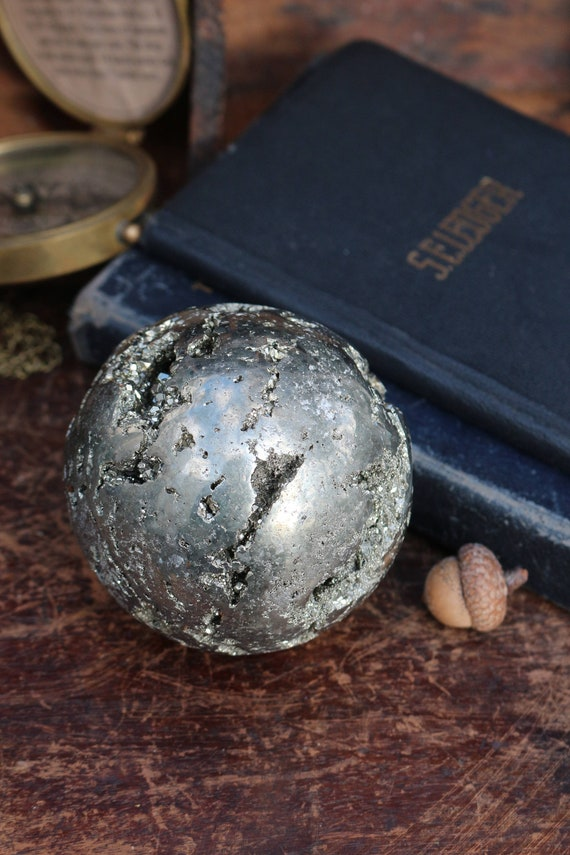 Huge Pyrite Sphere, 2.54 pounds, 83mm
