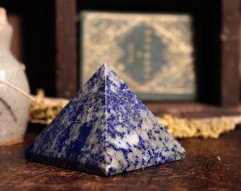 Lapis Lazuli Pyramid ~ Blues & Golds