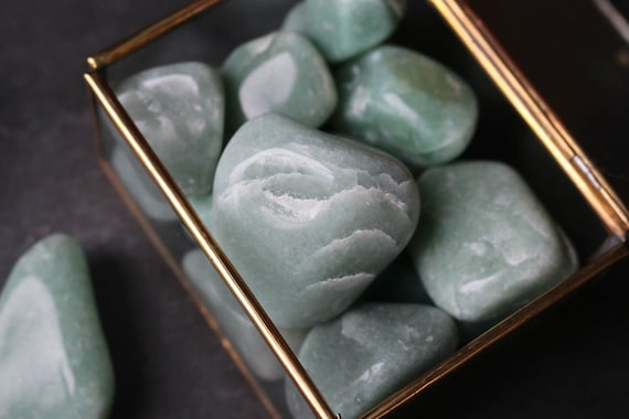 Set of 3 Green Aventurine Polished Stones for your Heart Chakra!