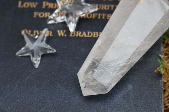 "Fully Polished Clear Quartz Crystal Point, 3.30"" Tall"