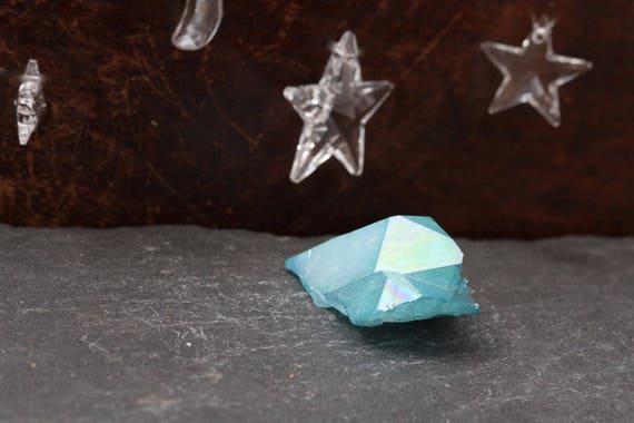 Aqua Aura Quartz Cluster 30g