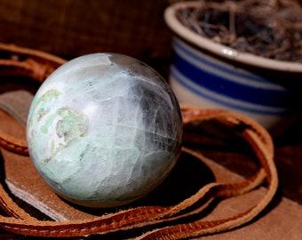 Large Green Moonstone Sphere 62mm
