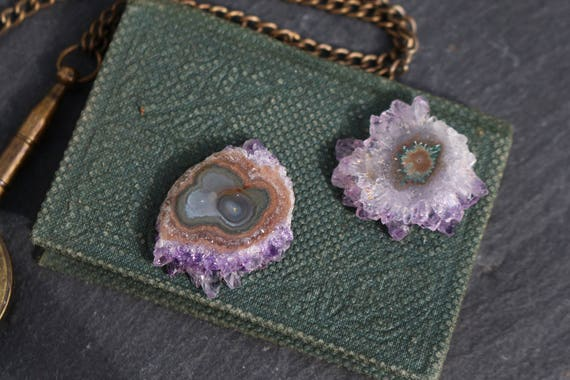Matching Amethyst Slices,