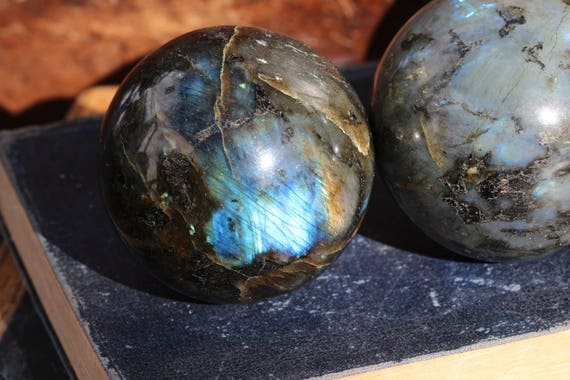 Large Rainbow and Blue Labradorite Sphere, Polished Labradorite, Labradorite Crystal, Labradorite Ball, Crystal Ball, Stocking Stuffer