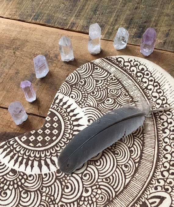 7 Piece Mini Brandberg Point Set, Brandberg Amethyst Point, Brandberg Clear Quartz Point, Tiny Brandberg Quartz Point, Raw Brandberg Quartz