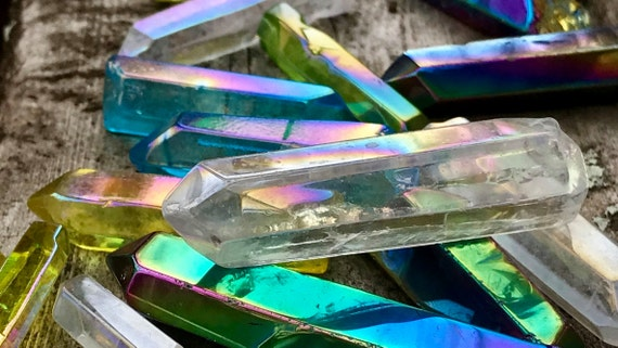 Various Aura Quartz Crystal Points ~ Seven Different Aura Coatings