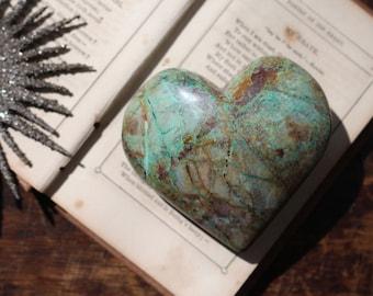 Malachite Chrysocolla & Azurite Heart