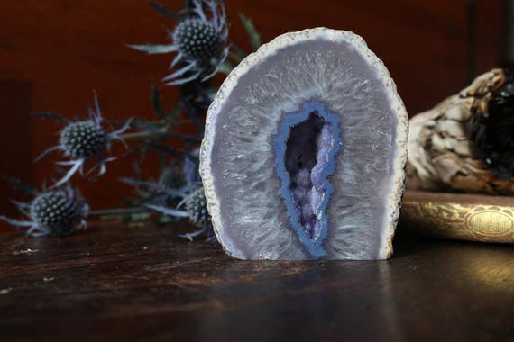 Small Agate Geode 350g, Small Geode, Raw Agate, Agate Druzy, Agate Crystal, Little Geode, Mini Agate Geode, Collectible Geodes