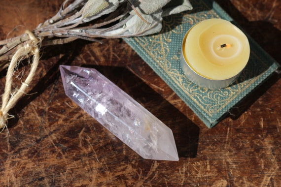 Large Double Terminated Amethyst Point 3.5""