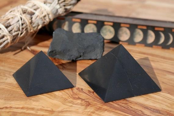 XL Shungite Pyramid, Large Shungite Pyramid, Polished Shungite, Black Crystal Pyramid, EMF Protection, Russian Shungite, Polished Shungite