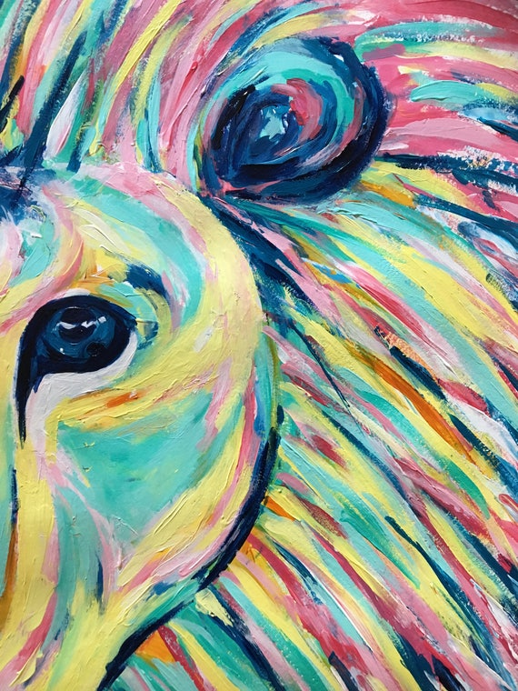 Abstract Lion Art Abstract Painting Abstract Art Wall Art Fine Art Affordable Art Acrylic Original Painting Lion Art His Majesty