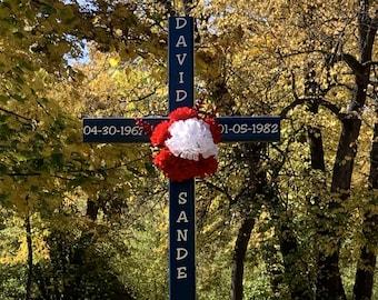 roadside memorial cross// funeral cross// cross// grave site cross// cemetery cross// DISPLAY MODEL #493