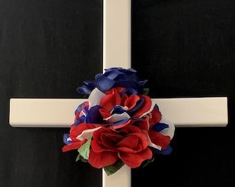 memorial cross steel// roadside cross// grave site cross// cemetery decoration// #552