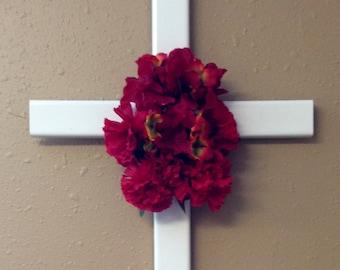memorial cross// roadside cross// grave site cross// cemetery decoration// #553