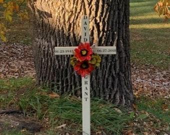 personalized roadside memorial cross// roadside cross// grave site cross// cemetery marker//copper/ #562