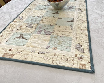 Quilted Table Runner, Quilted Table Topper for your Sophisticated Home Decor, redfencequiltingllc