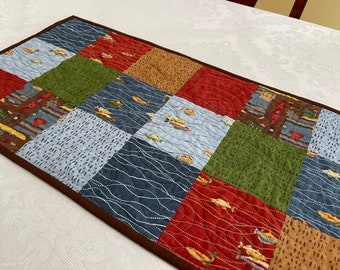 Rustic Table Runner, Quilted Patchwork Coffee Table Runners, Beautiful Table Topper