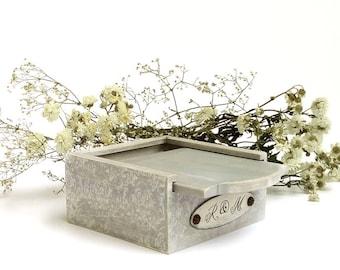 Pine Wood Box Custom Engraving Included Ring Box USB Box
