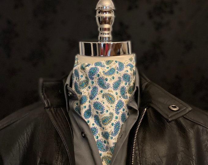 Blue and White Paisley Liberty Art Fabrics Ascot