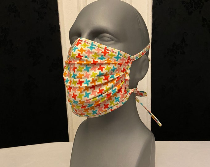 Houndstooth Multicolor Face Mask