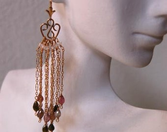 Tourmaline Cascade Earrings