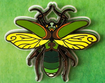 Sunflower Firefly Alternative Tree Spirit Hard Enamel Pin