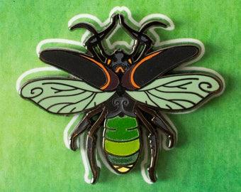 Glow-In-The-Dark Firefly Tree Spirit Hard Enamel Pin
