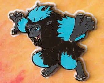 Volcano Monkey Alternative Wildfire Spirit Hard Enamel Pin