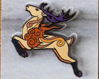Sunrise Deer Alternative Gust Spirit Hard Enamel Pin