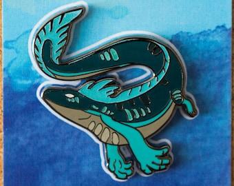 Glow-In-The-Dark Salamander River Spirit Hard Enamel Pin