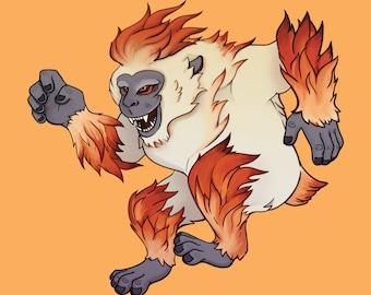 "Seirei Wildfire Spirit Lord Zaru 8""x10"" Art Print"